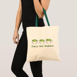 Bolsa Tote Chá verde Latte Foodie de Matcha do fósforo