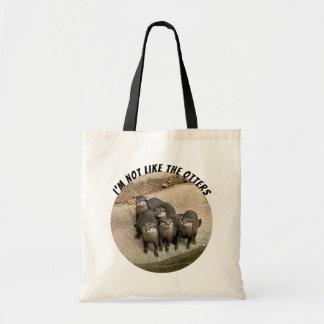 Bolsa Tote Chalaça bonito engraçada das lontras