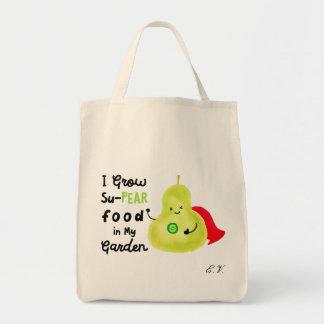 Bolsa Tote Chalaça positiva da pera - eu cresço a comida de