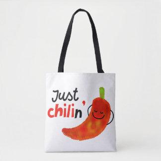 Bolsa Tote Chalaça positiva da pimenta de pimentão - apenas