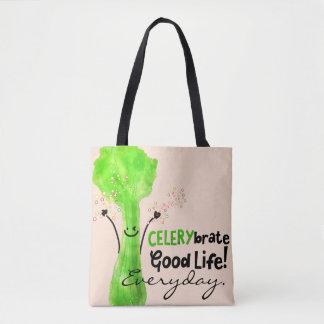 Bolsa Tote Chalaça positiva do aipo - boa vida de Celerybrate