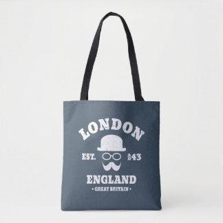 Bolsa Tote Chapéu de jogador de Londres Inglaterra do hipster