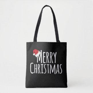 Bolsa Tote Chapéu lunático do papai noel do Feliz Natal no