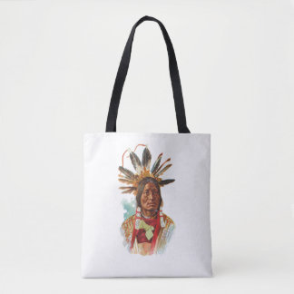 Bolsa Tote Chefe de Sioux do Blackfoot: Muitos chifres