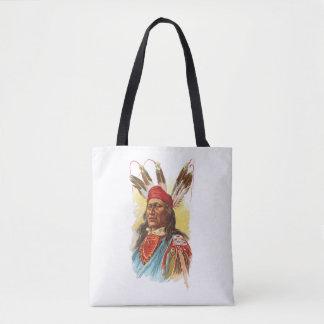 Bolsa Tote Chefe de Sioux do Pawnee: Urso de pressa