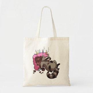 Bolsa Tote Cheio ávido do guaxinim de desenhos animados do