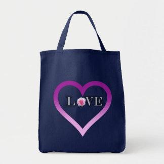 Bolsa Tote Cheio do coração da sacola do amor