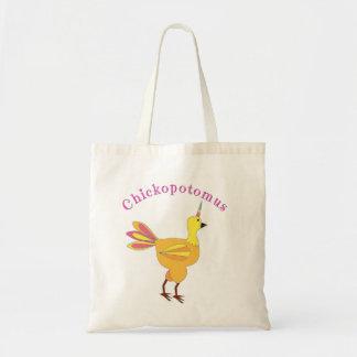 Bolsa Tote Chickopotomus - a galinha do unicórnio