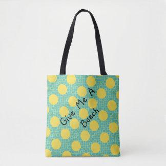 Bolsa Tote ChicYellow pontilha o saco do Aqua para a praia ou