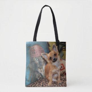 Bolsa Tote Chihuahua bonito Dylan do cão de filhote de