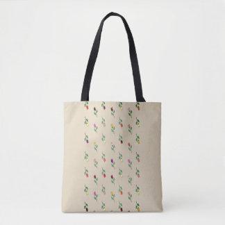 Bolsa Tote Chique delicado elegante do teste padrão colorido