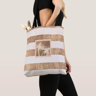 Bolsa Tote Chique moderno das palmeiras tropicais do cobre &