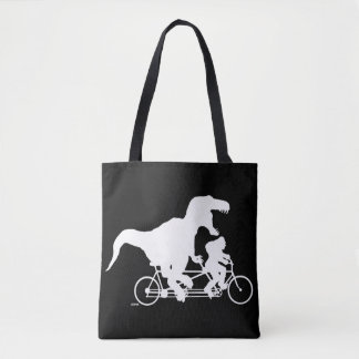 Bolsa Tote Ciclismo ido de Squatchin com T-rex