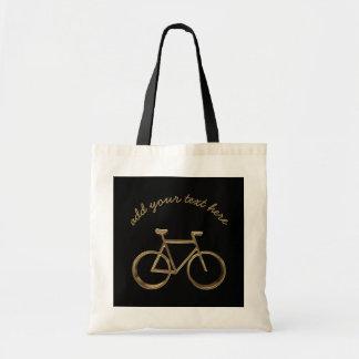 Bolsa Tote Ciclista preto elegante do ciclismo da bicicleta