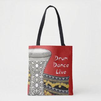 Bolsa Tote Cilindro, dança, viva