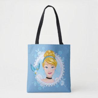 Bolsa Tote Cinderella e pássaro azul