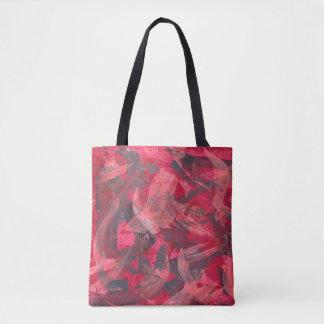 Bolsa Tote Cinzas de cobre vermelhas dos Brushstrokes da