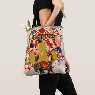 Bolsa Tote Circo retro do vintage