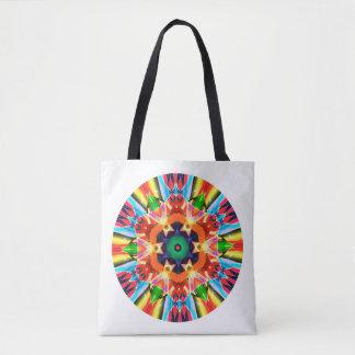Bolsa Tote Círculo do artista das cores