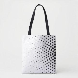 Bolsa Tote Círculos preto e branco da arte óptica nos