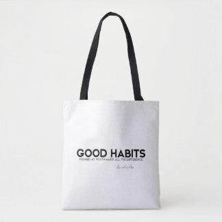 Bolsa Tote CITAÇÕES: Aristotle: Bons hábitos