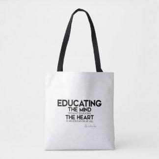 Bolsa Tote CITAÇÕES: Aristotle: Educando a mente, coração