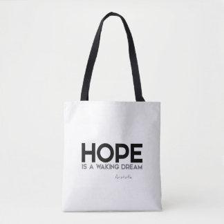 Bolsa Tote CITAÇÕES: Aristotle: Esperança: acordando o sonho