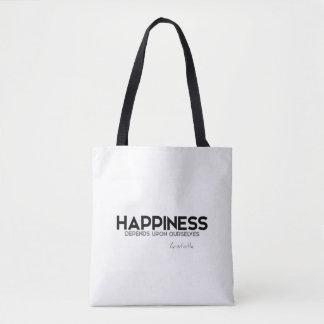 Bolsa Tote CITAÇÕES: Aristotle: Felicidade
