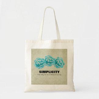 Bolsa Tote Citações da tipografia da simplicidade com rosas