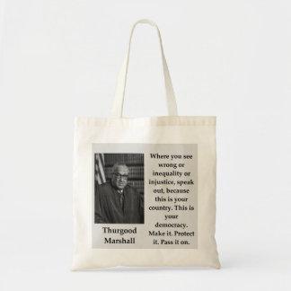 Bolsa Tote Citações de Thurgood Marshall