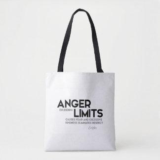 Bolsa Tote CITAÇÕES: Euripides: Limites da raiva, bondade