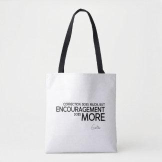Bolsa Tote CITAÇÕES: Goethe: O incentivo faz mais