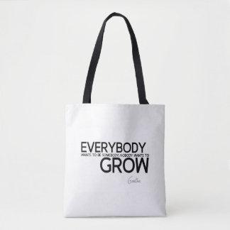 Bolsa Tote CITAÇÕES: Goethe: Seja alguém, cresça