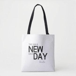 Bolsa Tote CITAÇÕES: Heraclitus: O sol é novo cada dia