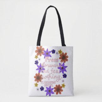 Bolsa Tote Citações Pastel florais bonitos da motivação da