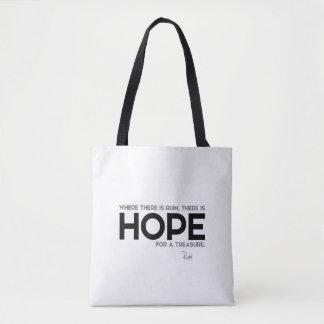 Bolsa Tote CITAÇÕES: Rumi: Ruína, esperança