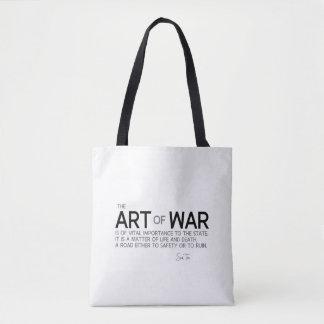 Bolsa Tote CITAÇÕES: Sun Tzu: Estratégia militar, vida e