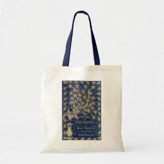 Bolsa Tote Cobrir Jane Austen do pavão do orgulho 1894 e do