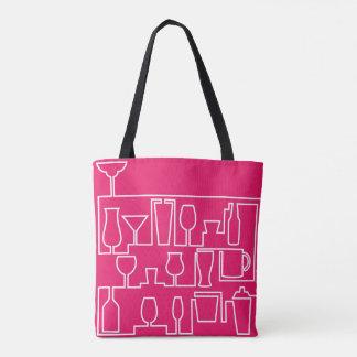 Bolsa Tote Cocktail cor-de-rosa