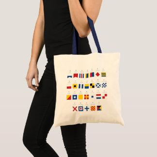 Bolsa Tote Código internacional do alfabeto dos sinais