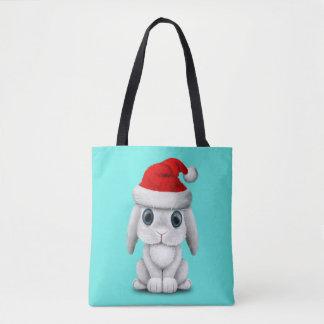 Bolsa Tote Coelho branco do bebê que veste um chapéu do papai