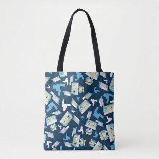 Bolsa Tote Coelho de coelho bonito de Blockimals dos desenhos