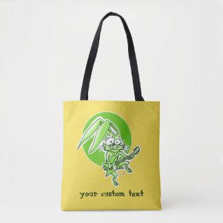 Bolsa Tote coelho doce do coelho engraçado que joga desenhos