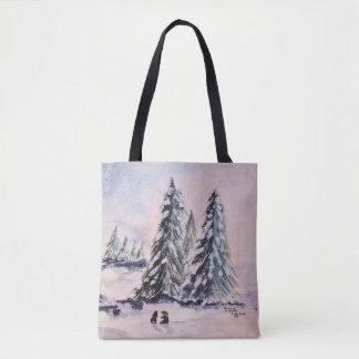 Bolsa Tote Coelhos na sacola do inverno