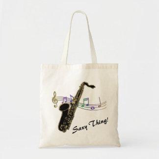 Bolsa Tote Coisa de Saxy! O arco-íris nota o saco da música