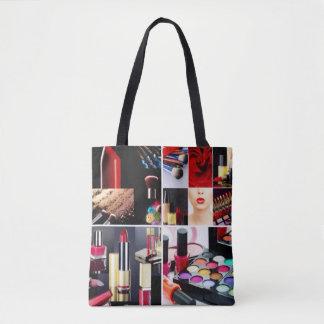 Bolsa Tote Colagem cosmética colorida