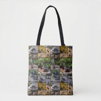 Bolsa Tote Colagem da foto da lontra, saco de compras