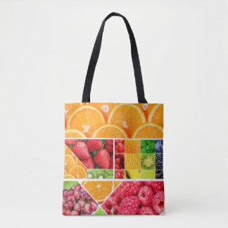 Bolsa Tote Colagem da fruta da mistura