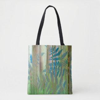 Bolsa Tote Colagem das samambaias da samambaia e da floresta