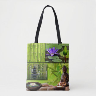 Bolsa Tote Colagem de Buddha